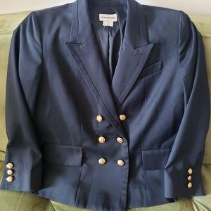 Club Monaco double breasted navy sailor blazer